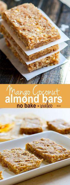 Paleo Mango Coconut Almond Protein Bars! Nom Nom