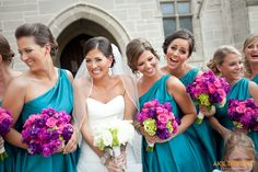 Wedding colors...aqua./turquoise as primary color and pink lavenders and greens as fill in