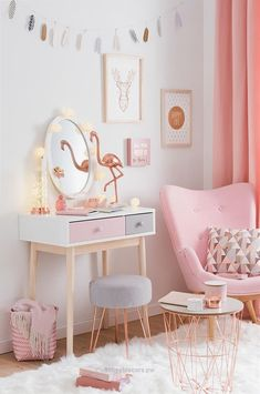 Check out this Pink and white nursery decor | girls bedroom ideas and inspiration for home decorating| Tendance déco Modern Copper – Joli boudoir | Maisons du Monde The post Pink and white nursery decor | girls bedroom ideas and inspiration for home deco… appeared first on 99 ..