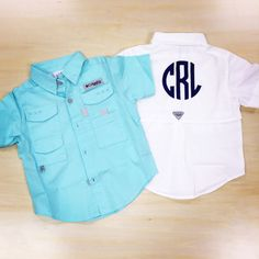 Monogram Toddler Fishing Shirt. Columbia Beach Fishing Shirt. Monogram Fishing Shirt with breathable mesh. by TwoGuysMonogramming
