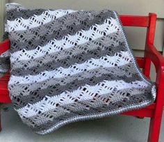 Diamond Lace Blanket - Free Pattern