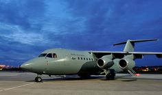 RAF BAe 146-200QC | Flickr. Royal Air Force's version of the civil cargo/passenger aircraft. Bae now offering water bomber versions & aerial refuelling variants,as low cost alternative to the bigger Boeing & Airbus types.