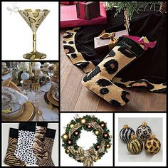 Metro Luxe Events Candice Vallone: Animal Print Christmas Decor Inspirations
