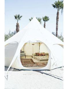 Binnenkijken in een hippe tent