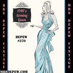 1940's Evening Gown #370 | Mrs Depew Vintage