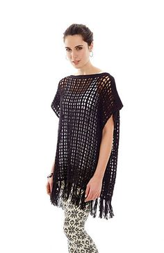 Mesh-Poncho crochet tunic of Vogue Knitting (spring . Discussion on LiveInternet - Russian Service Online Diaries Crochet Boots, Crochet Cardigan, Crochet Shawl, Crochet Clothes, Easy Crochet, Crochet Summer Tops, Poncho Shawl, Vogue Knitting, Crochet Fashion