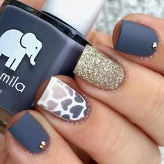 Most Popular Ways to Wear Grey Nails You Dont Know ★ See more: https://naildesignsjournal.com/grey-nails-designs/ #nails