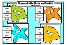 Rhyming game for CVC words - Short Vowel CVC Board Games by Games 4 Learning is a collection of 18 printable short vowel board games to practice reading, identifying and creating CVC Words with Short Vowels. $