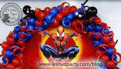 Arco de globos temático Spiderman - Balloon Spiderman decoration