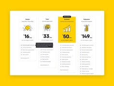 LiveChat Pricing designed by Jędrzej Rayski for LiveChat. Connect with them on Dribbble; Page Design, Web Design, Web Layout, Website Layout, Layout Design, Pricing Table, Graph Design, Ui Design Inspiration, Packaging