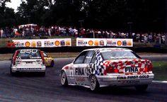 BTCC 1994 Croft - Lammers in the legendary Volvo 850 Estate leading the BMW of Joachim Winklehock.