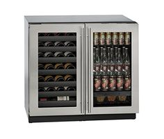 "U-Line U3036BVWCS00A 36"" Built-in Beverage Center and Wine Storage, 36"", Stainless Steel - http://www.majestyappliance.com/u-line-u3036bvwcs00a-36-built-in-beverage-center-and-wine-storage-36-stainless-steel/"