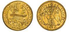 Italian States/Piacenza AV 2 Doppie 1626 Parma Mint Odoardo Farnesse 1622-46