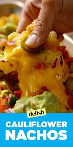 Cauliflower nachos taste like regular nachos, just without all the guilt. Get the recipe on Delish.com.
