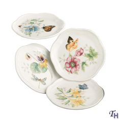 Lenox Butterfly Table Set   Lenox Butterfly Meadow Coasters- Set Of 4         ( I need 2 sets )
