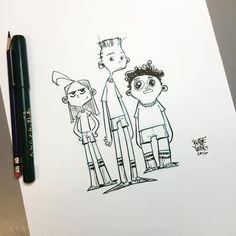 Gym class crew. Just felt like drawing some random kids for no reason. Original…