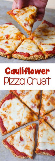 The Best Cauliflower Pizza Crust – Just 5 Ingredients! | Chocolate-Covered Katie | Bloglovin'