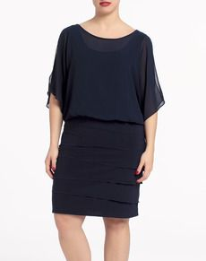 Vestido Couchel - Mujer - Moda y complementos - El Corte Inglés - Tallas Grandes - Tallas Especiales para Mujer - Moda El Corte Inglés - El Corte Inglés - Moda Smart Dress, Fashion Outfits, Womens Fashion, Fashion Clothes, Moda Online, Old Women, Curvy Fashion, Different Styles, Dresses For Work