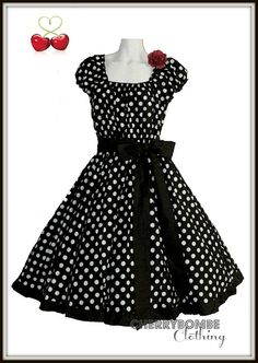 Darla Maxi Dress  Vintage style Polka dots and Plus size