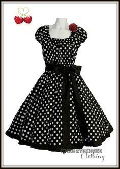 Vintage 1950s Style JESSICA Swing Dress PLUS Sz 18 20 22 Retro Pin Up Wedding