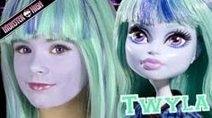 Monster High Twyla Doll Costume Makeup Tutorial for Halloween or Cosplay   KITTIESMAMA