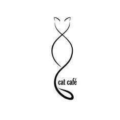 Cat Café logo - Cat Café logo You are in the right place about tattoo sleeve Here we offer you the most beautiful - Inkbox Tattoo, Body Art Tattoos, Tiny Tattoo, Tattoo Flash, Cute Cat Tattoo, Cafe Logo, Ankle Tattoo Small, Small Tattoos, Ankle Tattoos