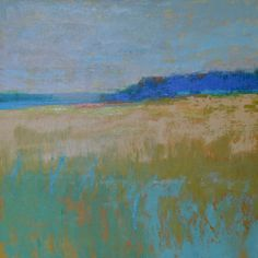 """To The Shore  20"""" x 20"""" oil on wood"""