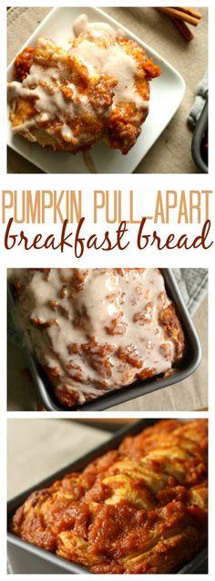 Pull Apart Pumpkin Breakfast Bread on SixSistersStuff.com