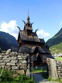 Borgund Stave Church, Norway (by catalessio)