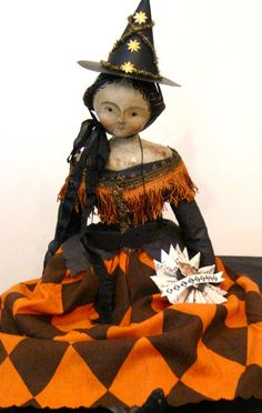 Nicol Sayre :: Dolls and Folkart. Love this witch. I'm on the hunt for a few like this!