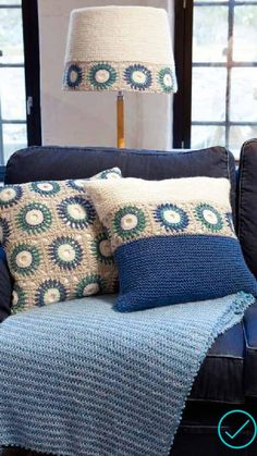 Pt 110 Innenraum - Knit/crochet home decor ✳️ - Crochet Cushion Pattern, Crochet Cushion Cover, Crochet Cushions, Crochet Blanket Patterns, Crochet Motif, Crochet Stitches, Knit Crochet, Crochet Decoration, Crochet Home Decor