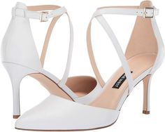 Nine West Women's Mig Pointed Toe Pump ** You can get more details by clicking on the image. (This is an affiliate link) Pointed Toe Pumps, High Heel Pumps, Women's Pumps, Pump Shoes, Stiletto Heels, Peep Toe, All White Shoes, Sexy High Heels, Nine West