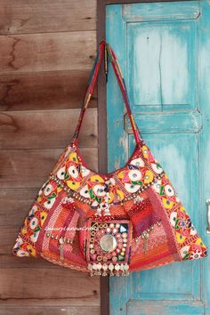 Tribal Vintage Fabric Chic Boho Bag