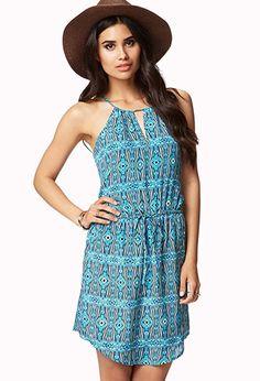Tribal-Inspired Halter Dress | FOREVER21 - 2058027804