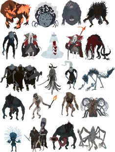 Bloodborne - Chalice dungeon bosses by DigitalCleo.deviantart.com on @DeviantArt
