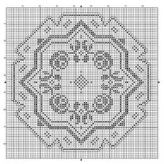 Round 22 | Free chart for cross-stitch, filet crochet | Chart for pattern - Gráfico