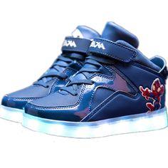 Blue Kids Cartoon LED Light Up Shoes