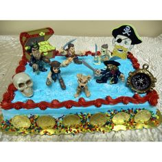 Pirates Of The Caribbean 16 Piece Disney Birthday Cake Topper