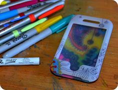 theartgirljackie-tutorials: Original Art iPhone Covers