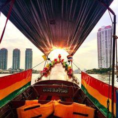 Boat ride in Bangkok, Thailand at Christmas