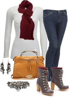 """maroon and gold"" by marnifox ❤ liked on Polyvore"