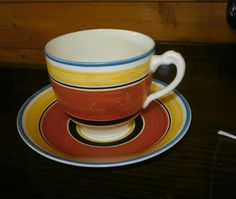 Susie Cooper Gray's Pottery Art Deco Tea Cup and Saucer 1928