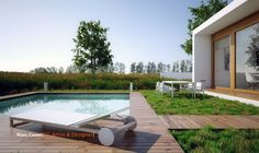 Incredible Bright House Interior Adopts Minimalist Idea For Wide View:  Comfortable Swimming Pool From Natural
