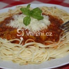 Výborné boloňské špagety recept - Vareni.cz
