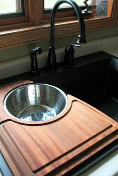 Awesome Cutting Board with Strainer More