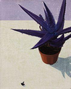 Tristan Pigott : save the cacti oil on linen