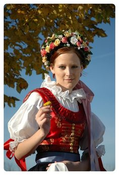 Girl with traditional costume from Czech republic.