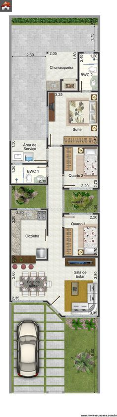 Casa 3 Quartos - 81.12m²