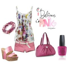 Love pinks, created by jillgrimm on Polyvore