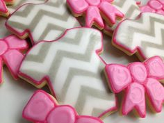 Little Lady Baby Shower Cookies